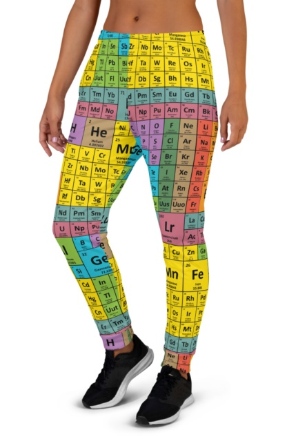 Periodic Table of Elements Joggers for women girls science chemical chemicals tables math chemistry sweatpants sweats tracksuit