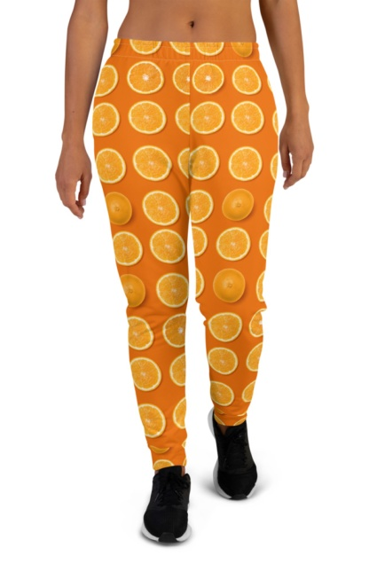 oranges, yellow lemons, purple figs or green avocados Colorful Fresh Fruit Joggers for Women