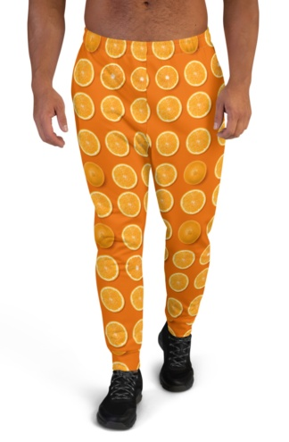oranges, yellow lemons, purple figs or green avocados Colorful Fresh Fruit Joggers for Men