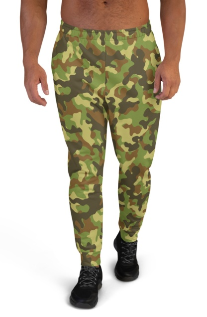 Camo Camouflage Joggers for Men black green khaki blue