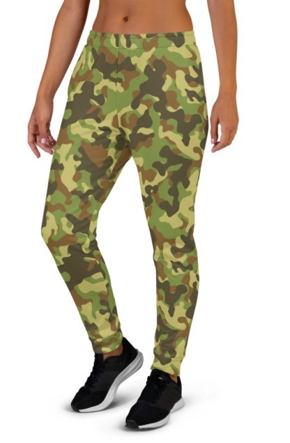 Camo Camouflage Joggers for women's ladies black green khaki blue pink