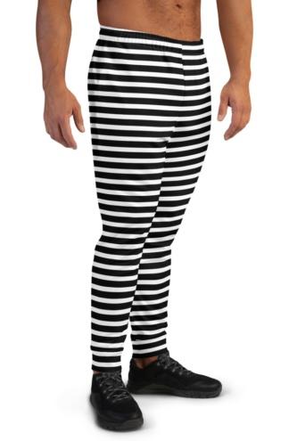 Horizontal Stripes Joggers for men blue red white black stripes striped stripe