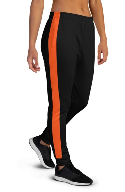 Classic Side Stripe Joggers for women ladies Green Khaki Orange Black White pink Stripes Striped