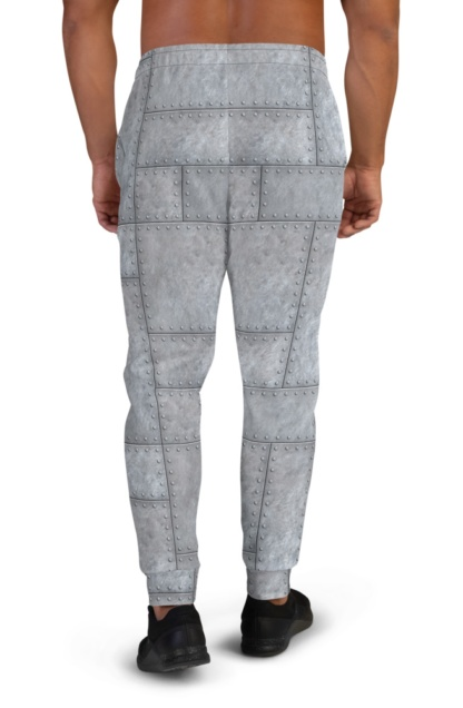 Metal Plates with Rivets Joggers for Men