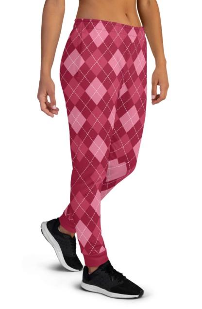 Classic Argyle Joggers for Women Sweat Pants Track Suit