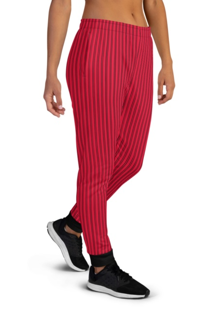 Classic Pinstripe Joggers sweat pants tracksuit track running for women