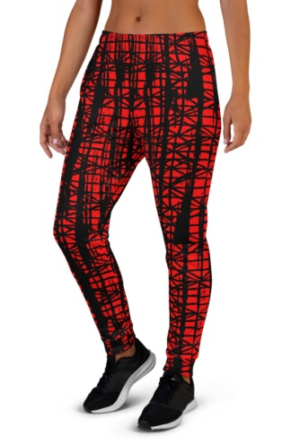 Smeared Ink abstract Ladies Joggers