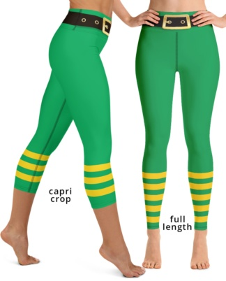 St Patrick's Day Leprechaun Pants Green Yoga Leggings