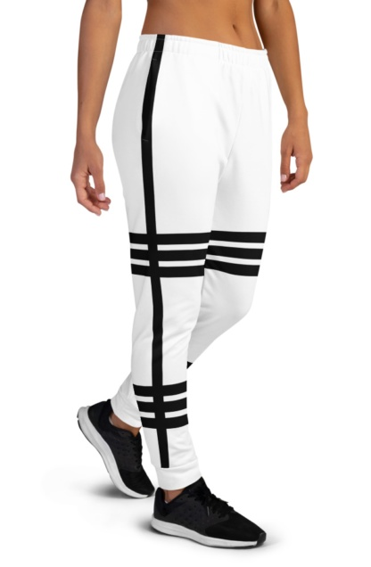 Hot Striped Joggers For women ladiesSide Stripe pin stripped black white pink