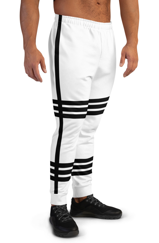 Hot Striped Joggers For Men Side Stripe pin stripped