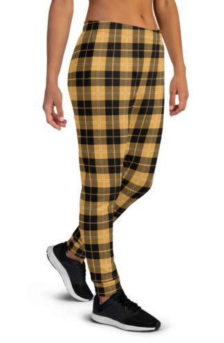 Scottish Tartan Plaid Joggers for Women
