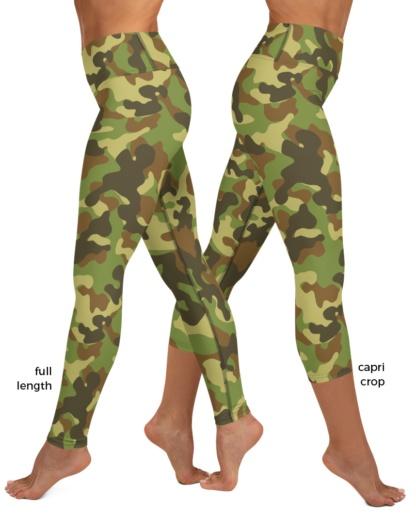 blue pink green khaki camo Camouflage Yoga Leggings exercise pants pant legging