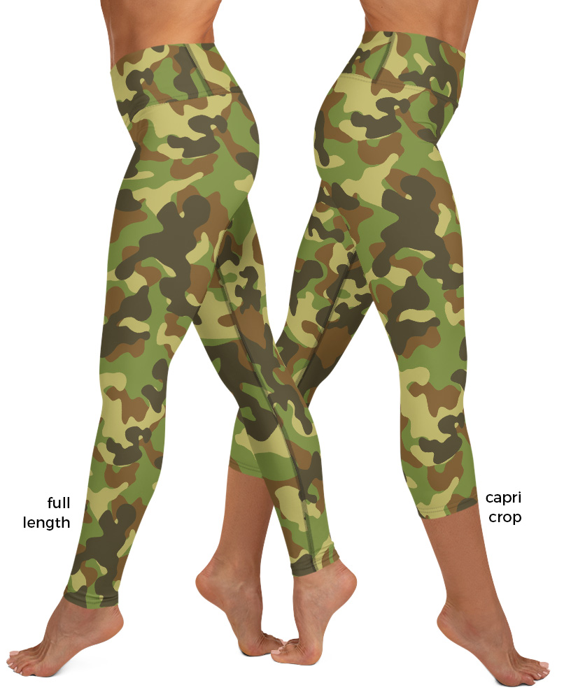 blue pink green khaki camo Camouflage Yoga Leggings exercise pants pant legging