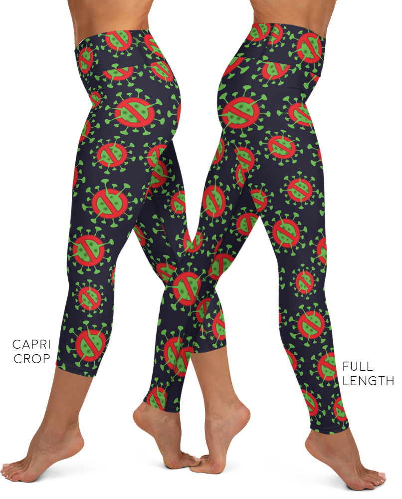 Anti Coronavirus Leggings (COVID-19) Corona Virus Exercise Pants Wash hands flu sick pandemic