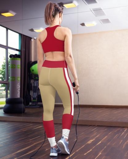 San Francisco 49ers Sports Football Uniform Yoga Leggings
