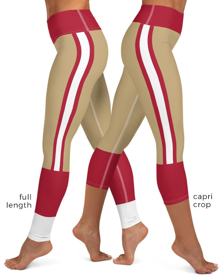 San Francisco 49ers Sports Football Uniform Yoga Leggings