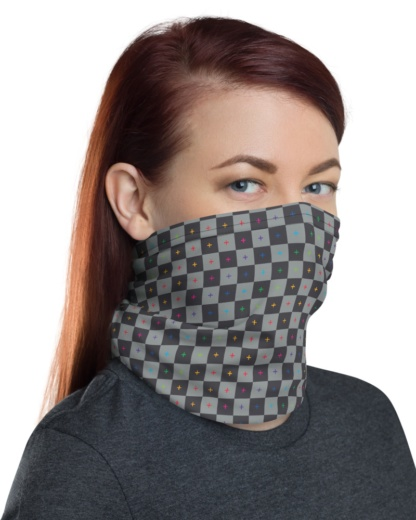 Graphic Design Animator 3D UV Grid Strip Face Mask Neck Warmer