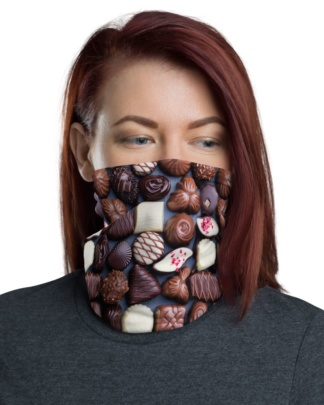 Chocolate Box Face Mask Neck Warmer assorted chocolate