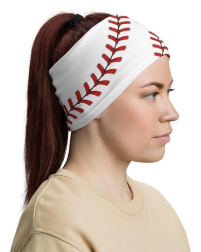 Baseball Stitches Face Mask Neck Gaiter mom