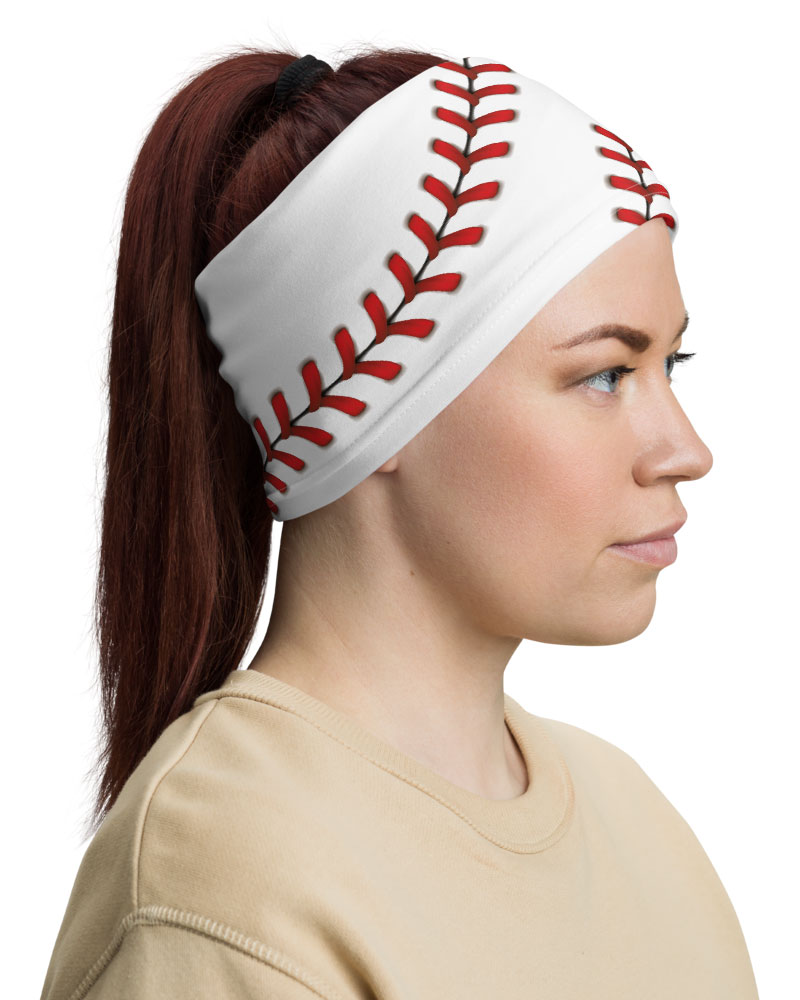 Baseball Stitches Face Mask Neck Gaiter mom