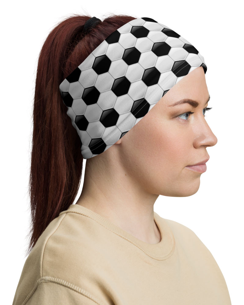 Soccer Ball Face Mask Neck Gaiter