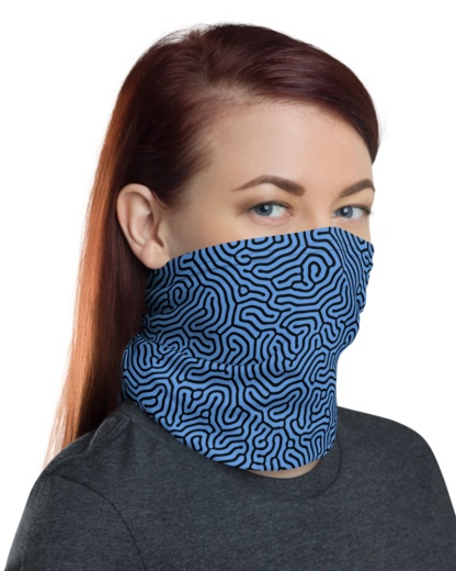 Biological Abstract Face Mask Neck Warmer