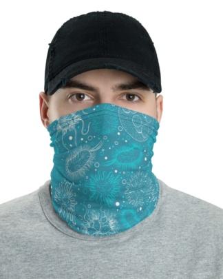Microbiology Virus Face Mask Neck Gaiter microbe