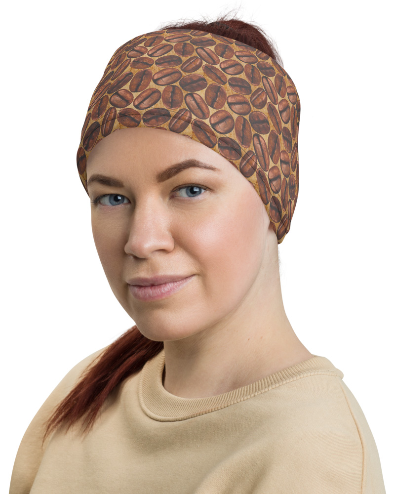 Caffeine Lover Coffee Bean Face Mask Neck Gaiter