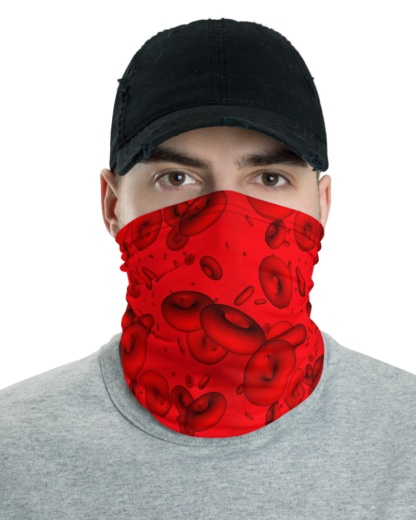 Blood Cells Microscopic Face Mask Neck Warmer red gaiter