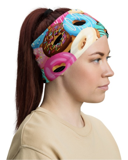 Sweet Donut Face Mask Neck Warmer Neck Gaiter donoughts donuts