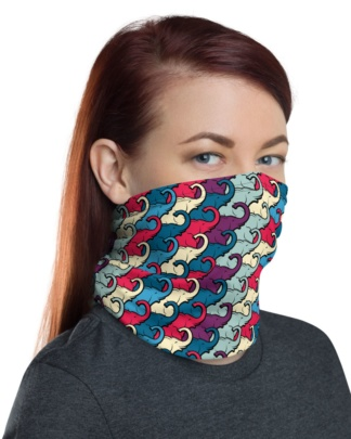 Colorful Elephant Trunk Face Mask Neck Warmer gaiter