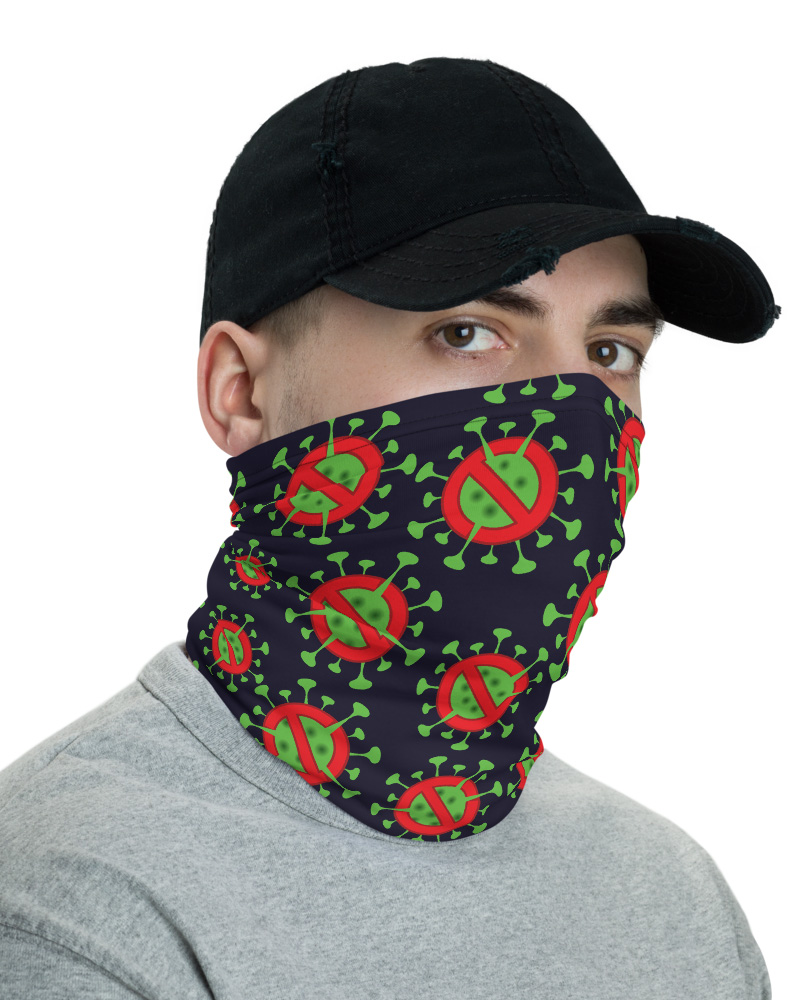 Keep Away Coronavirus (COVID-19) Face Mask Neck Warmer