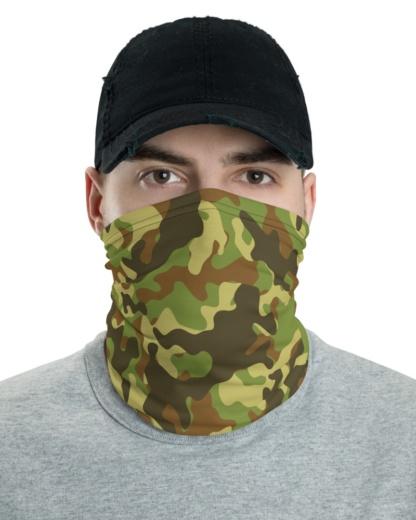 Camouflage Camo Face Mask Neck Warmer blue green khaki pink green