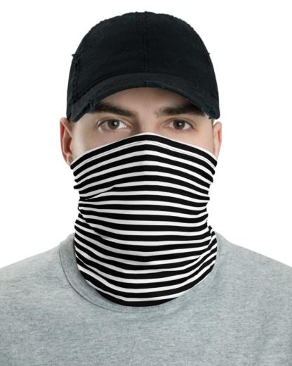 Horizontal Stripe Face Mask Neck Gaiter Face Mask Neck Warmer black blue pink orange green