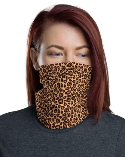Leopard Skin Face Mask Neck Gaiter