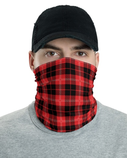 Plaid Face Mask Neck Warmer gaiter tartan scottish