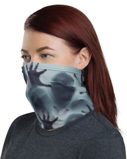 Spooky Ghost Shadow Face Mask Neck Warmer gaiter scary