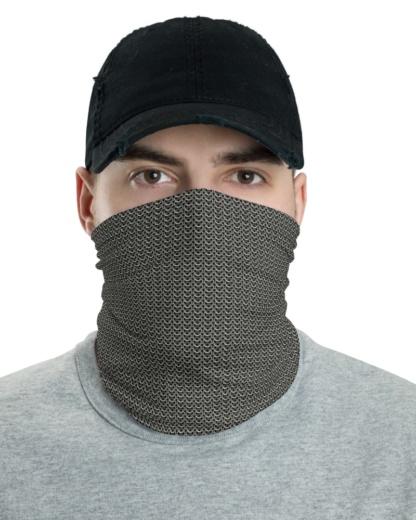 Metal Chainmail Mask Neck Warmer Gaiter protector metallic