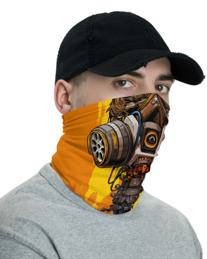 Skeleton Gas Mask Face Mask Neck Gaiter