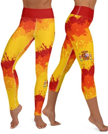 Spain Spanish Flag Yoga Leggings world cup European football soccer