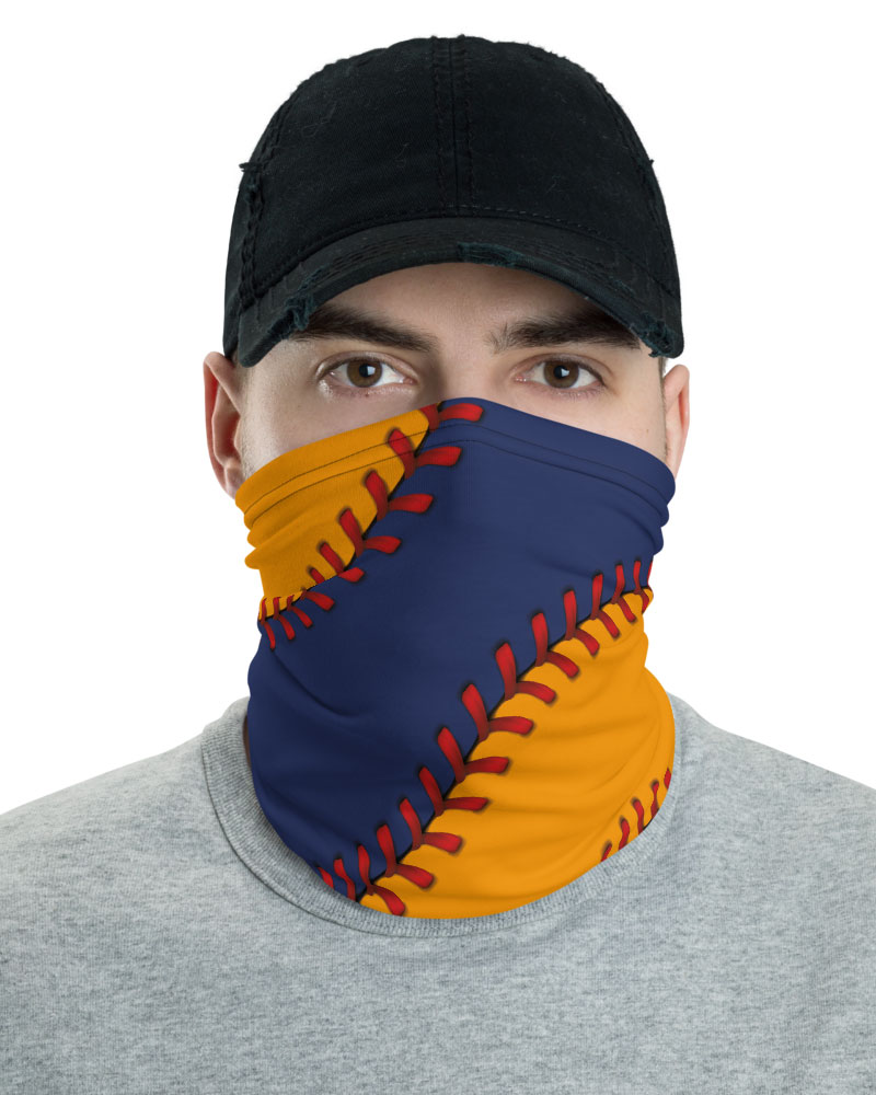 Texas Houston Astros Baseball Face Mask Neck Gaiter