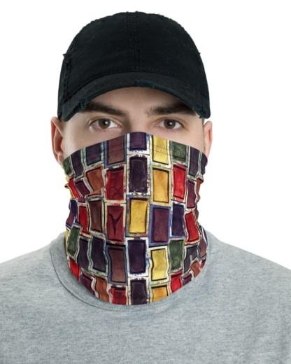 Paint Set Watercolor Face Mask Neck Warmer Gaiter artist cover