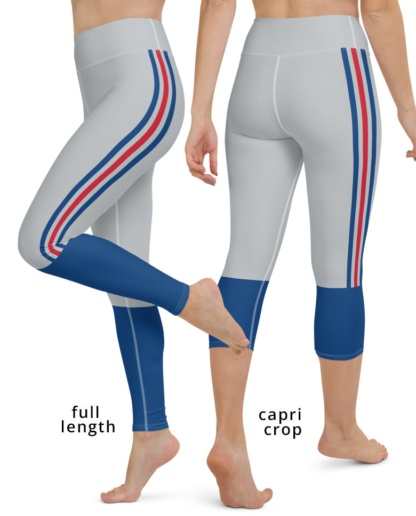 New York Giants Football Uniform Yoga Sports Leggings blue red gray