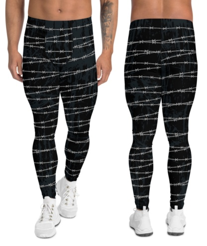 Barbed Wire Leggings for Men metal gothic boys boy