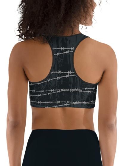Barbed Wire Sports Bra gothic black fierce top