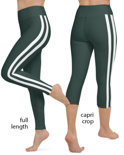 New York Jets Football Uniform Yoga Sports Leggings green nfl football pants