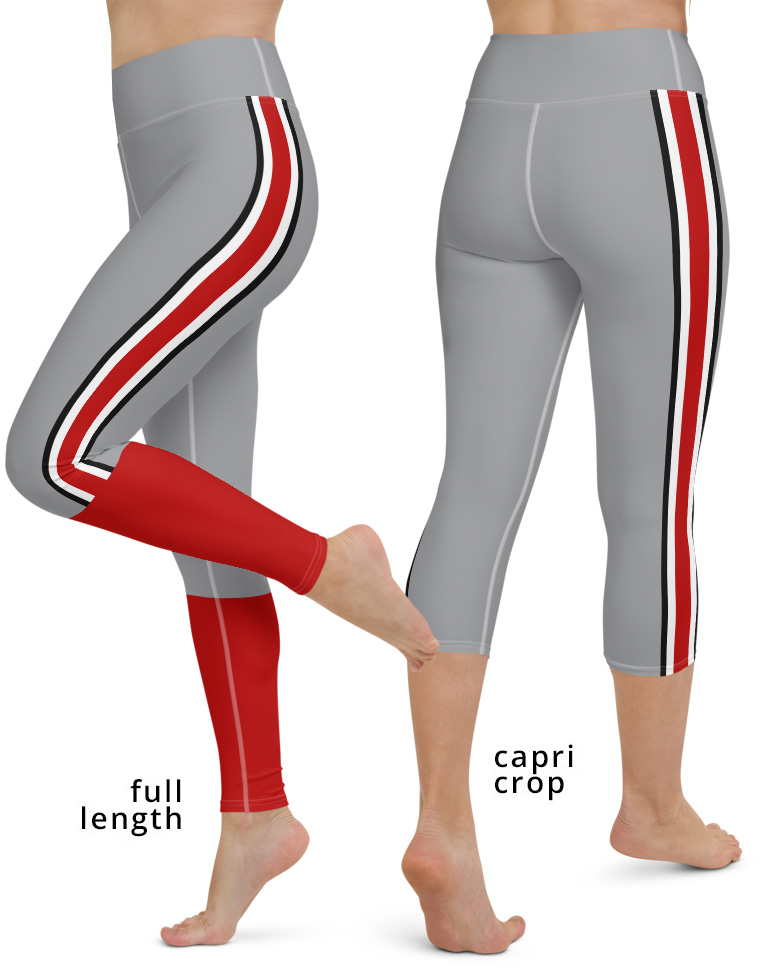 Ohio State Buckeyes Football Uniform Yoga Leggings