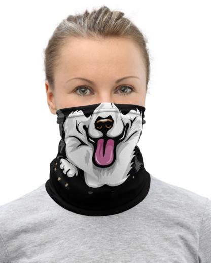 Pembroke Welsh Corgi puppy dog face cover Mask Neck Gaiter