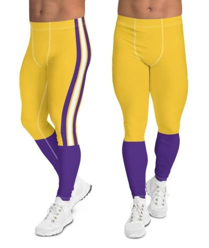 Louisiana State University LSU Tigers Football Uniform Leggings for Men