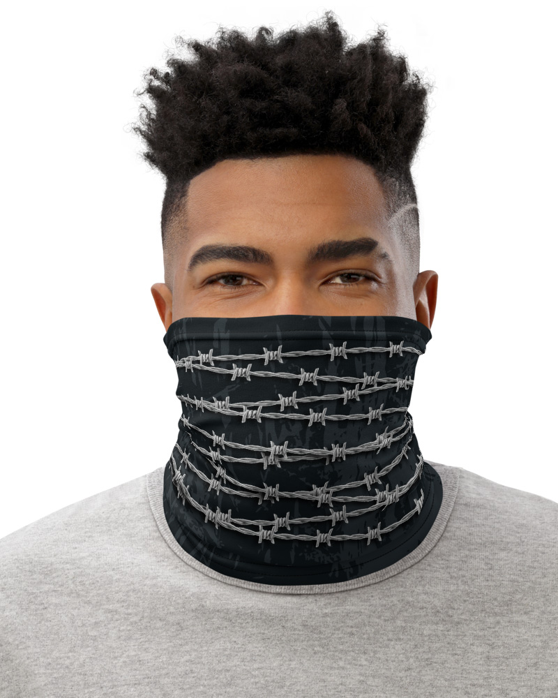 Barbed Wire Face Cover Neck Warmer mask metal wires bandana